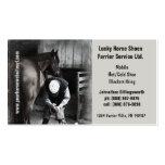 Farrier - serviços em ferradura do casco do cavalo cartoes de visita