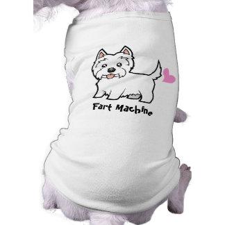 Fart a máquina (o terrier branco de montanhas camisa sem mangas para cachorro