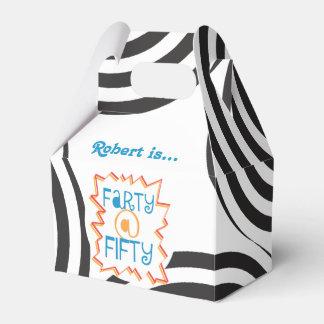 Farty engraçado no 50th aniversário cinqüênta caixinha de lembrancinhas