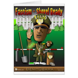 Fascismo de BenitObama Cartão Comemorativo