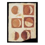 Fases 1616 da lua de Galileo Cartão Postal