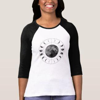 Fases inversas da lua camiseta