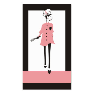 fashion girl chic chef business card