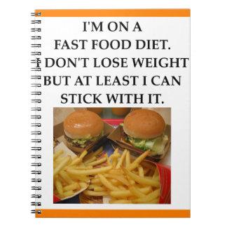 fast food caderno