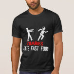 FAST FOOD DO ÓDIO DOS ZOMBIS T-SHIRTS