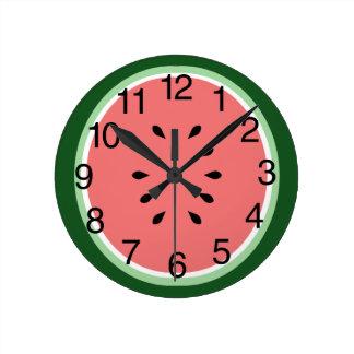 Fatia da melancia relógios de paredes