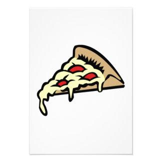 Fatia da pizza convite personalizado