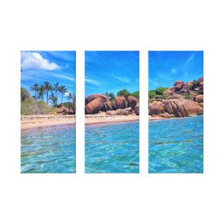 Fatia de 3 painéis de paraíso impressão em tela