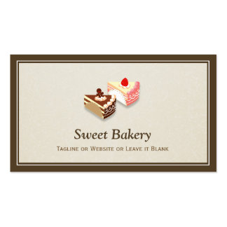 Fatia de morango do chocolate dos bolos - chique cartão de visita