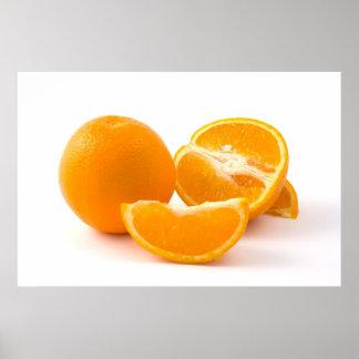 Fatia de tonificação de posters das laranjas da vi