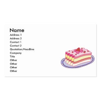 fatia ou tarte de morangos cartão de visita