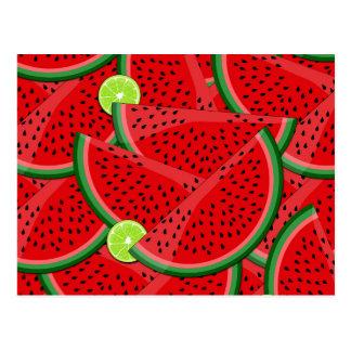Fatias da melancia cartão postal