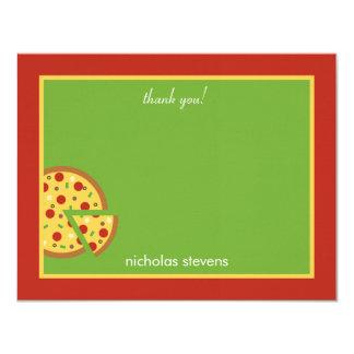 Fatias da pizza - cartões de agradecimentos convite 10.79 x 13.97cm