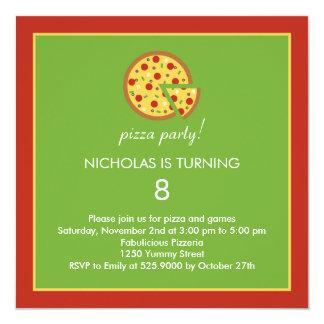 Fatias da pizza - convite de aniversário