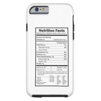 fatos da nutrição capa tough para iPhone 6