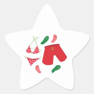 Fatos de banho adesivo em forma de estrela