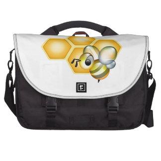 Favo de mel com uma abelha bonito maleta para notebook