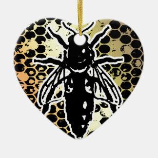 Favo de mel da abelha geométrico ornamento de cerâmica