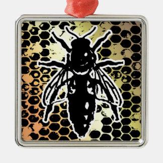 Favo de mel da abelha geométrico ornamento de metal