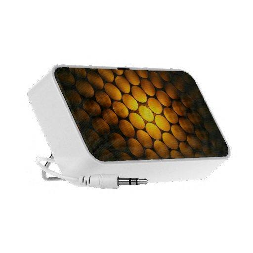Favo de mel dourado - - auto-falante iPod/iPhone/M Caixinhas De Som Portátil