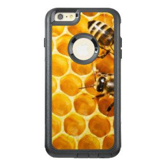 Favo de mel e design do teste padrão das abelhas