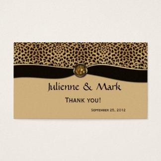 Favor do casamento da jóia da fita do FALSO do Cartão De Visitas