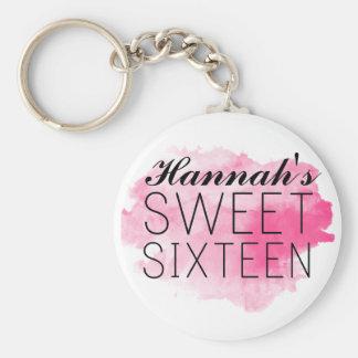 Favor do chaveiro do doce 16/rosa personalizados