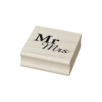 Favor elegante simples do casamento da tipografia carimbo de borracha