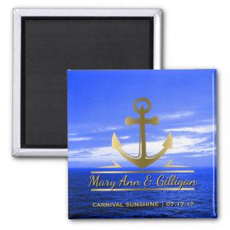 Favor náutico do casamento do cruzeiro do oceano imã