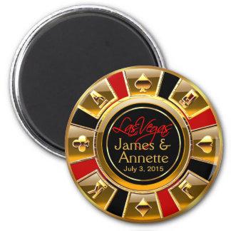 Favor vermelho da microplaqueta do casino do preto ímã redondo 5.08cm