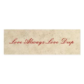 Favores do casamento - do amor amor sempre profund modelos cartao de visita