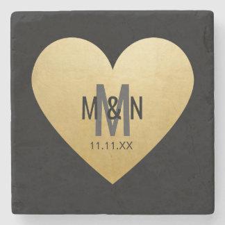 Favores Monogrammed personalizados do casamento do Porta Copos De Pedra