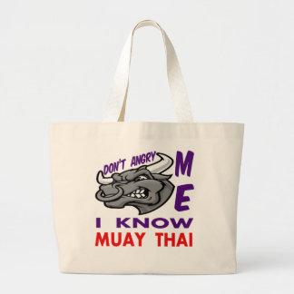 Faz não irritado eu, mim sabe tailandês de Muay Sacola Tote Jumbo