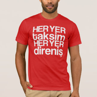 faz yer taksim - white camiseta
