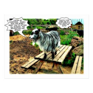 Fazenda animal: A revolução começa! banda desenhad Cartoes Postais