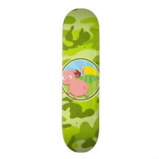 Fazenda; camo verde-claro, camuflagem skate