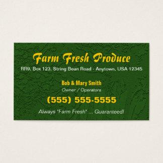 Fazenda/cartão de visita do cultivo cartão de visitas