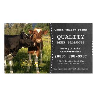 Fazenda de gado do produtor da carne cartão de visita