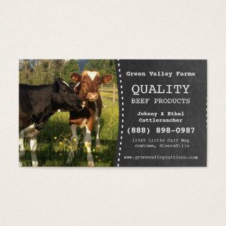 Fazenda de gado do produtor da carne cartão de visitas