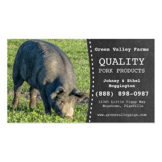 Fazenda de porco do porco do produtor da carne de  cartão de visita