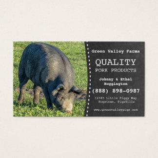 Fazenda de porco do porco do produtor da carne de cartão de visitas