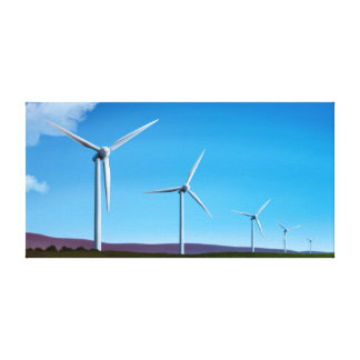 Fazenda de vento - a arte das energias verdes esti impressão em tela canvas