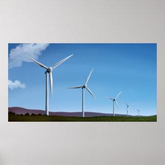Fazenda de vento - impressões do poster das energi