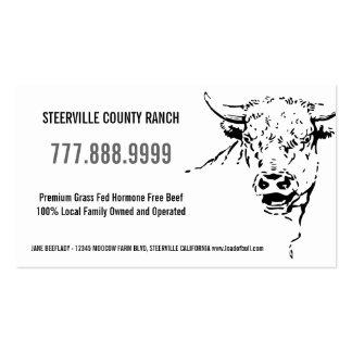 Fazenda estilizado moderna do rancho da carne cartão de visita