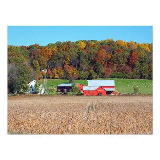 Fazenda na queda impressão de foto