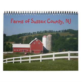 Fazendas do calendário 2014 do Condado de Sussex
