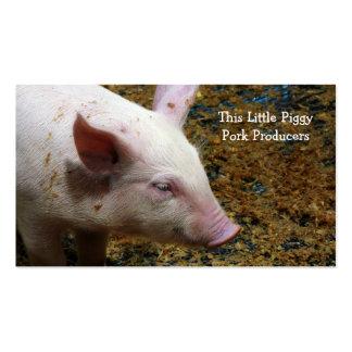 Fazendeiro de porco - fotografia bonito do leitão cartões de visita