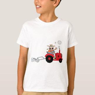 Fazendeiro dos desenhos animados que conduz um camiseta