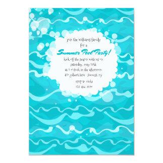 Fazendo o convite da festa na piscina das ondas