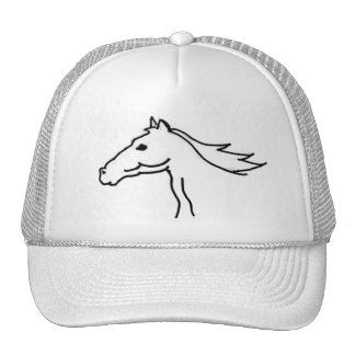 FB chapéu do desenho da silhueta do cavalo Bonés